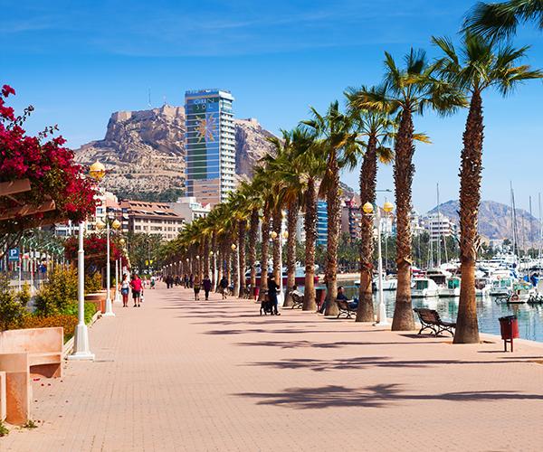 Alicante, obiective turistice locale, panorama