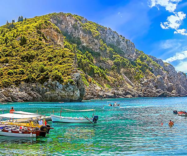 Peisaj Corfu, Grecia