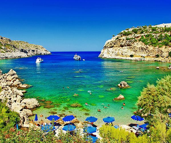 Plaja in Rodos