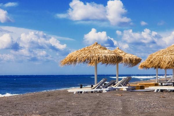 Plaja Perissa, Santorini